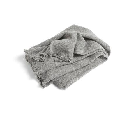 HAY Plaid Mono lana gris 180x130cm