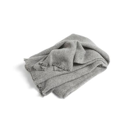 HAY Plaid Mono laine grise 180x130cm