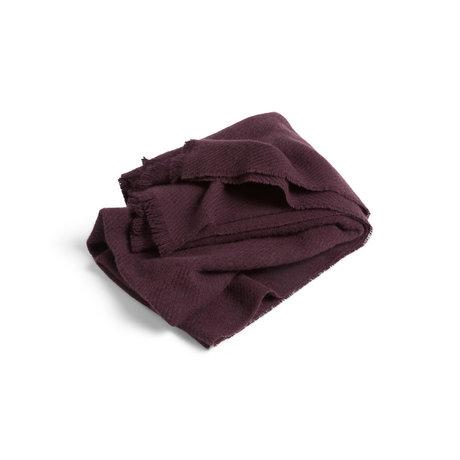HAY Plaid Mono dunkelbraune Wolle 180x130cm