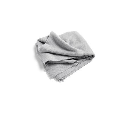 HAY Plaid Mono lana grigio chiaro 180x130cm
