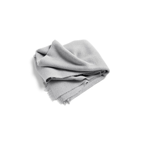 HAY Plaid Mono gris claro lana 180x130cm
