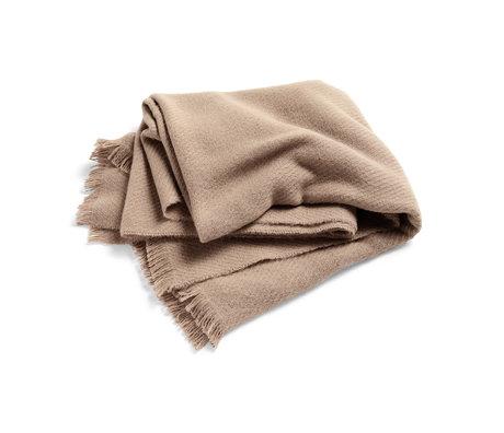 HAY Plaid Mono light brown wool 180x130cm
