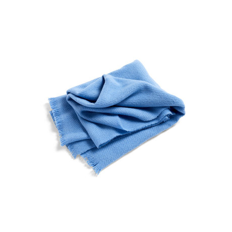 HAY Plaid Mono lana blu 180x130cm