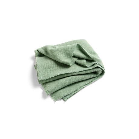 HAY Plaid Mono light green wool 180x130cm