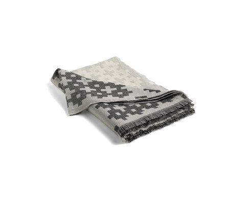HAY Plaid Plus 9 gray wool 215x145cm