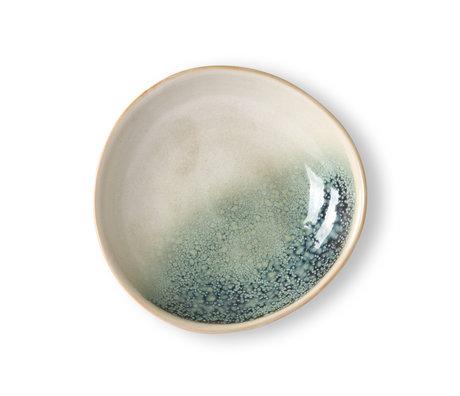 HK-living Schüssel 70er Jahre Nebel mehrfarbiges Keramikset mit 2 Ø21,7x21x4,7 cm