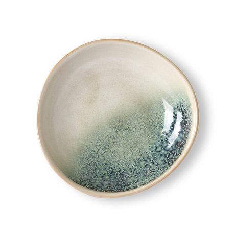 HK-living Ciotola 70's Mist multicolore in ceramica set di 2 Ø21,7x21x4,7cm