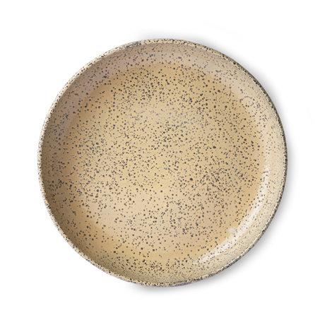 HK-living Assiette Gradient rose clair en céramique lot de 2 Ø21,5x4,3cm