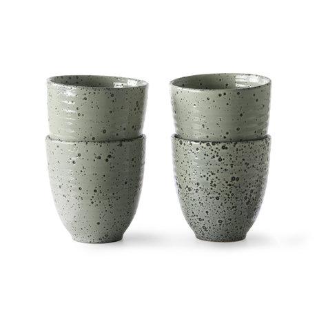 HK-living Mug Gradient vert céramique lot de 4 Ø8,5x9cm