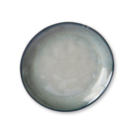HK-living Plate Home Chef green porcelain 20.3x19.3x2.3cm