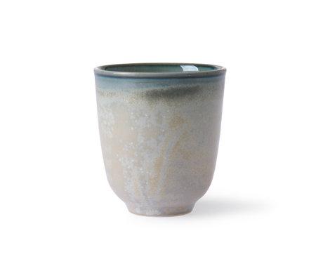 HK-living Mug Home Chef porcelaine verte Ø7,4x8,3cm