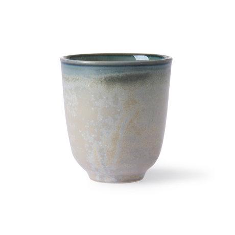 HK-living Taza Home Chef porcelana verde Ø7.4x8.3cm
