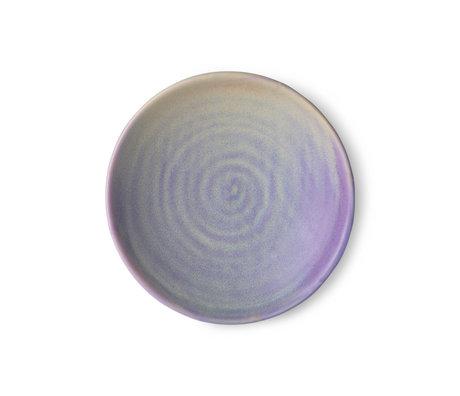 HK-living Plate Home Chef purple porcelain Ø20x4cm
