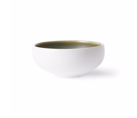 HK-living Schüssel Home Chef grün weiß Porzellan Ø11x5cm