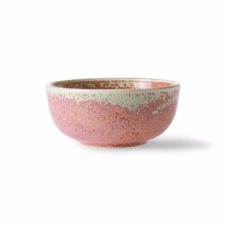 HK-living Cuenco Home Chef porcelana rosa Ø11.2x5cm