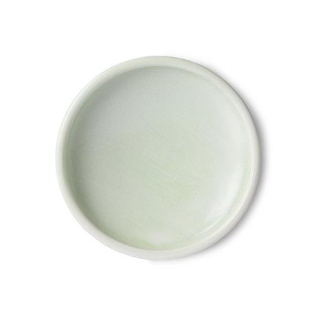 HK-living Assiette Home Chef porcelaine vert menthe Ø20x4,5cm