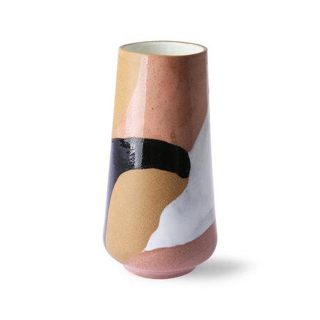 HK-living Vase Bemalte mehrfarbige Keramik Ø16x31cm