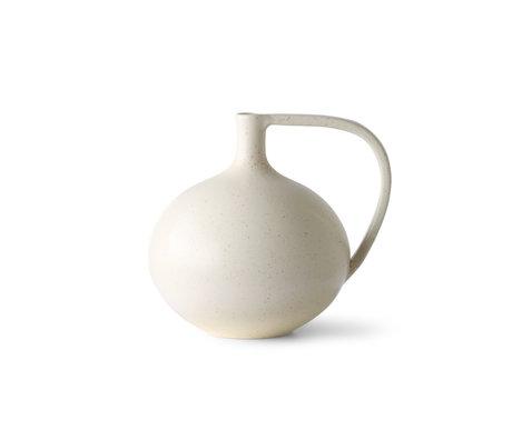 HK-living Cruche M céramique blanche 20x18x19,5cm