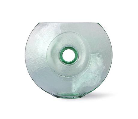 HK-living Vaso Circle in vetro trasparente 30x10x25cm