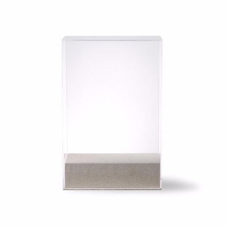 HK-living Stolp Display transparentes Glas 20x12x30cm