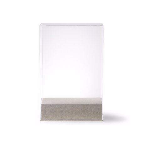 HK-living Stolp Display verre transparent 20x12x30cm