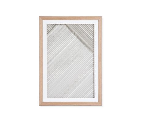 HK-living Kunstliste Büttenpapier B natürliches weißes Papierholz 42x4x60cm