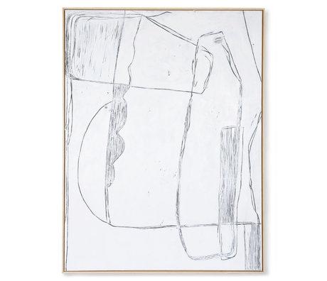 HK-living Cornice artistica Brutalismo tela bianca 123x4x163cm