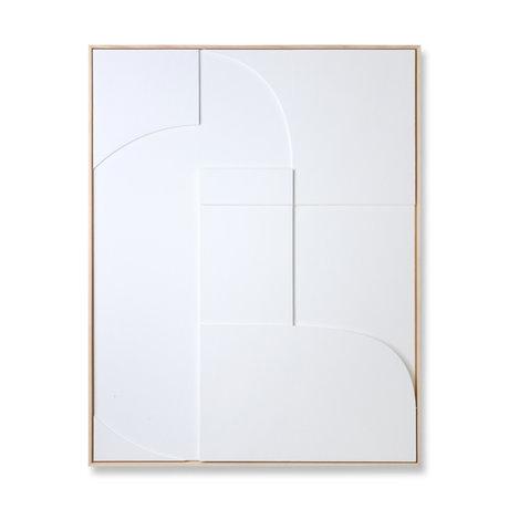 HK-living Cornice artistica Rilievo A legno bianco 100x4x123cm