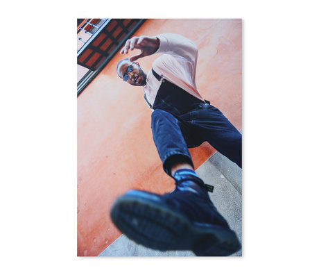 HK-living Fotodruck Urban mehrfarbiges Aluminium 105x150cm