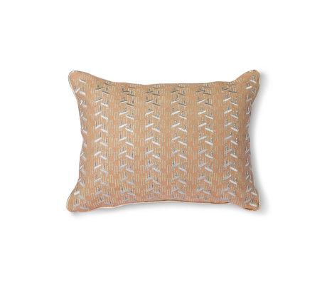 HK-living Wurfkissen Nude hellrosa Silber Textil 30x40cm