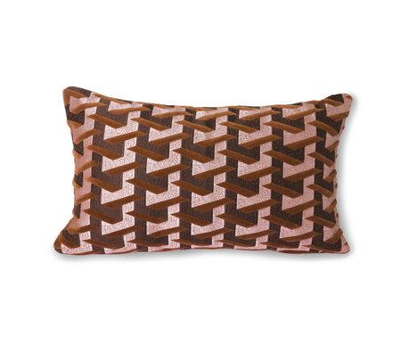 HK-living Dekoratives Kissen Geometrisches burgunderrotes Textil 30x50cm