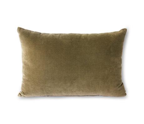 HK-living Throw pillow Velvet green textile 40x60cm