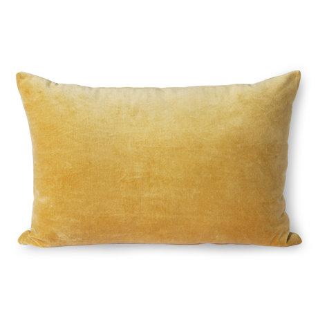 HK-living Wurfkissen Samtgold Textil 40x60cm