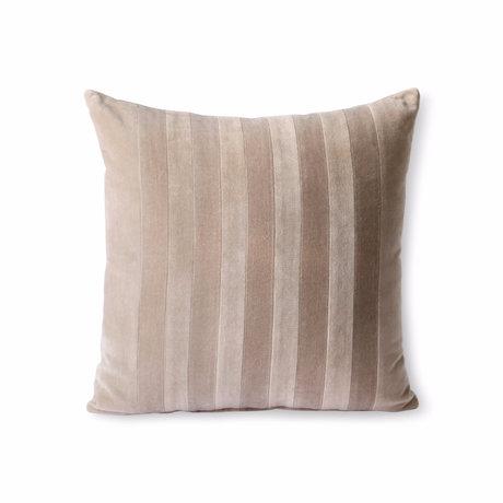 HK-living Decorative pillow Striped Velvet light pink textile 45x45cm