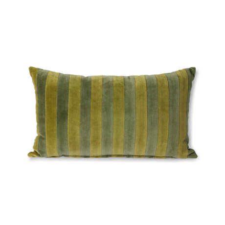 HK-living Cuscino decorativo Tessuto verde velluto a righe 30x50cm