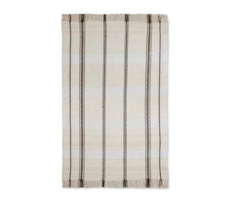 HK-living Stripes carpet black white textile 150x240cm