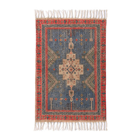 HK-living Badematte Überbüscheliges mehrfarbiges Textil 60x90cm