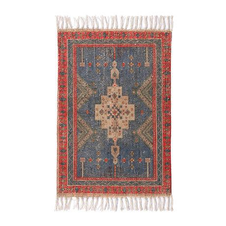 HK-living Bath mat Overtufted multicolour textile 60x90cm