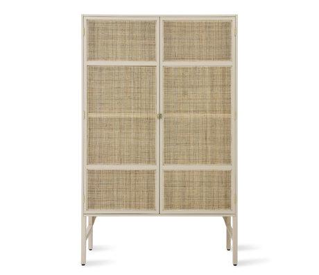 HK-living Cabinet Retro Webbing legno di rattan beige 125x55x200cm