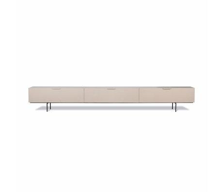 HK-living TV furniture Wood Grain beige wood 250x30x36cm