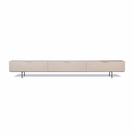 HK-living Tv-møbler Trækorn beige træ 250x30x36cm