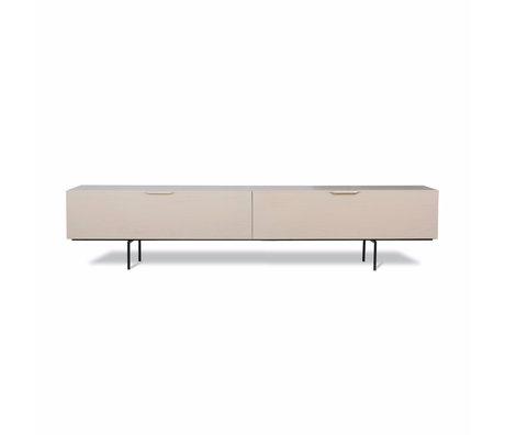 HK-living TV furniture Wood Grain beige wood 167x30x36cm