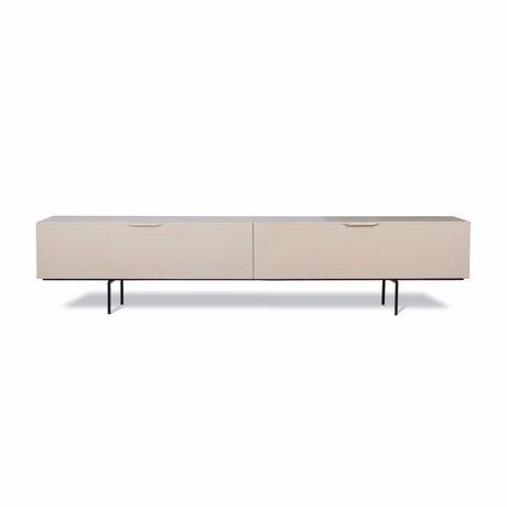 HK-living Tv-møbler Trækorn beige træ 167x30x36cm