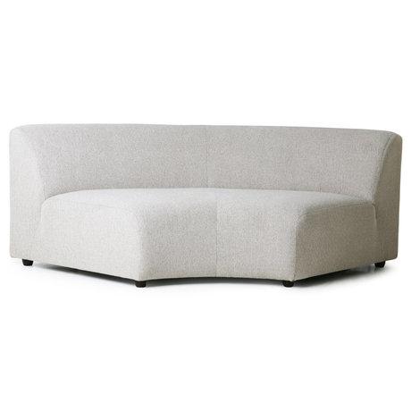 HK-living Bank Jax Element Round Sneak light gray textile 208x95x74cm