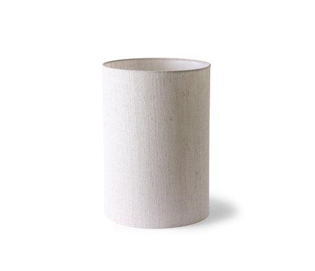 HK-living Pantalla Cilindro textil beige Ø24,5x37cm