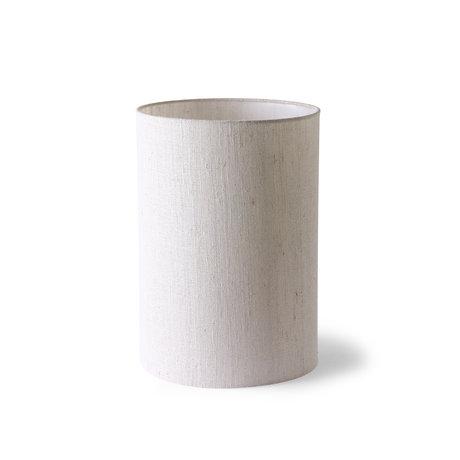 HK-living Abat-jour cylindrique textile beige Ø24,5x37cm
