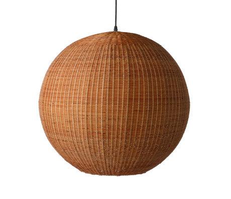 HK-living Lámpara colgante Bamboo bambú marrón Ø60x55.5cm