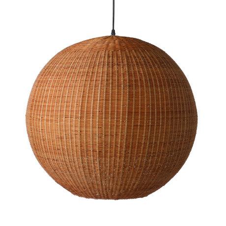 HK-living Hängelampe Bambusbrauner Bambus Ø60x55.5cm