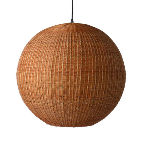 HK-living Hængelampe Bambusbrun bambus Ø60x55,5cm