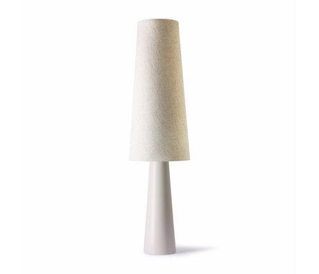 HK-living Lámpara de pie Retro Cone cerámica crema Ø40x140cm